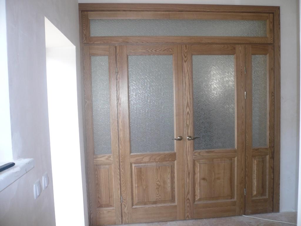 Двери с фрамугой своими руками